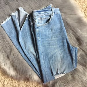 EUC Zara basic Z1975 Denim distressed jeans